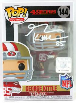 George Kittle Autographié Sf 49ers Funko Pop Figurine Beckett W White