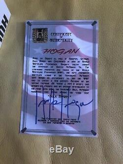 Hulk Hogan Signé Funko Pop Wwe Exclusive 11 Withcoa Tres Rare