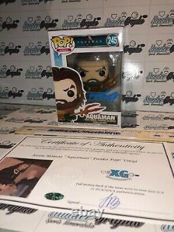 Jason Momoa Aquaman Signé Autographié Funko Pop #245 New-beckett Bas Coa