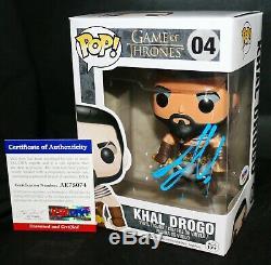 Jason Momoa Signé Khal Drogo Autographié Game Of Thrones Funko Pop Psa Jsa