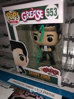 John Travolta Grease Danny Zuko Signé Autographié Funko Pop Beckett Bas Coa