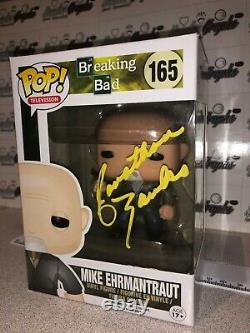 Jonathan Banks Mike Ehrmantraut Breaking Bad Signé Funko Pop-beckett Bas Coa