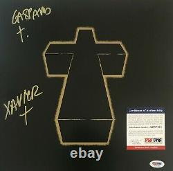 Justice Cross Électronique Dj Duo Signé Album Vinyle Lp Autographié Psa Coa E1