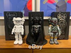 Kaws Star Wars Ensemble De 3 (darth Vader Signés Boba Fett, Stormtrooper) Ed. 500