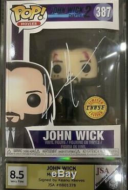 Keanu Reeves Signé John Wick Chase Funko Pop (pop 1 Sur 1)