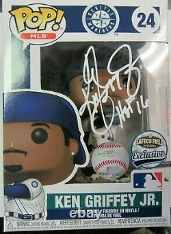 Ken Griffey Jr. Autographed Funko Pop Figure Avec Coa Sga Mariners Hof 16 Inscri