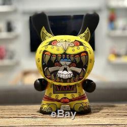 Kidrobot 8 Dunny Jesse Hernandez Jaguar Guerrier Jaune Edition Signée