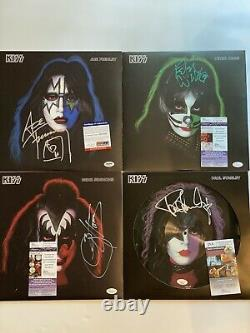 Kiss Signed Album/record/vinyle Par Les 4 Membres Rare Jsa/psa