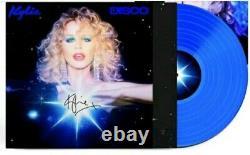 Kylie Minogue Disco Blue Vinyl Signé Sleeve Rare