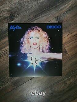 Kylie Minogue Disco Signé Autographed Limited Edition Blue Vinyl Album