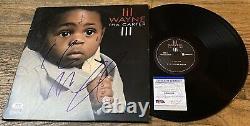 LIL Wayne Signed Tha Carter III Album Vinyl 2lp Avec Psa Coa