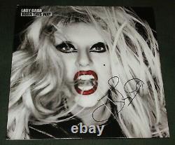 Lady Gaga A Signé Autographed Born This Way Vinyl Album Cover Lp Proof Coa