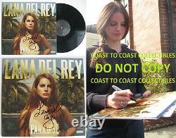 Lana Del Rey A Signé L'album Paradise Autographié, Disque Vinyle, Coa Preuve Exacte