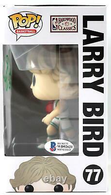 Larry Bird Autographié Boston Celtics Funko Pop Figurine Beckett W Vert