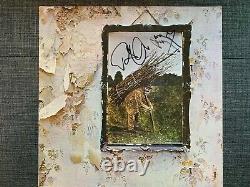 Led Zeppelin Signé Autographed IV Lp Vinyl Jimmy Page Robert Plant Exact Proof