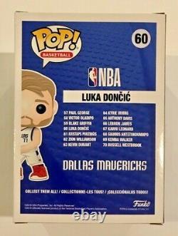 Luka Doncic Mavericks Mvp Autographié Signé Pop Funko Basketball Vinyl 60 Coa