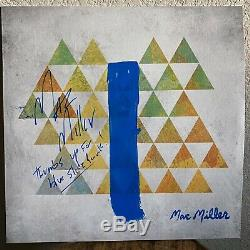 Mac Miller Autographié Signé Slide Bleue Park Disque Vinyle Album Withinscription
