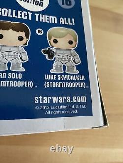 Mark Hamill Signé Sw Eccc Luke Skywalker Stormtrooper 16 Funko Jsa Z13544