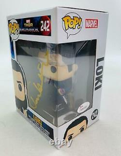 Marvel Thor Ragnorak Loki Funko Pop Autographié Par Tom Hiddleston