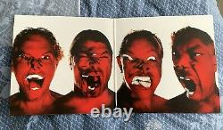 Metallica Entièrement Signé Hardwired To Self Destruct 2 Lp Marbled Red Vinyle