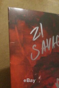 Metro Boomdans Et 21 Savage Autosigné Savage Mode Lp Vinyle Jsa Autocollant Seulement