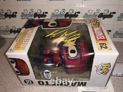 Michael Fassbender Magneto X-men Signé Autographed Funko Pop-beckett Bas Coa