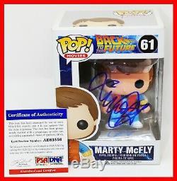 Michael J Fox Signé Autographié Marty Mcfly Retour Vers Le Futur Funko Pop Psa