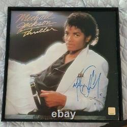 Michael Jackson Thriller Vintage 1982 Vinyl Hand Signé + Coa Authentic
