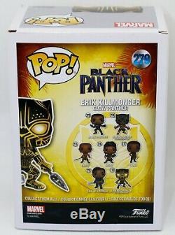 Michael Jordan B Erik Killmonger Autographié Glow Black Panther Funko Pop Psa