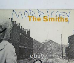 Morrissey L'smiths Signé Knows Autograph Ciel. Disque Vinyle 45 Tours 7 X4