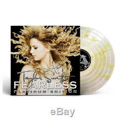 New Taylor Swift Signé Lp Sans Peur Platinum Edition Gold Record Store Day Vinyle