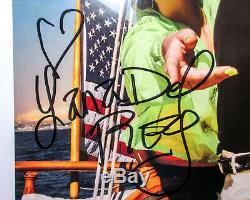 Nouveau Lana Del Rey Signe Norman Rockwell Blue Vinyl Exact Preuve Jsa Coa