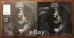 Ozzy Osbourne A Dédicacé Signé Litho Ordinaire Man Vinyl Lp Limitée Smoke