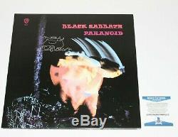 Ozzy Osbourne Signé Album Vinyl Record ' Black Sabbath'paranoid Lp Beckett Coa