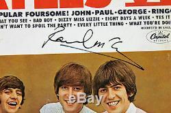 Paul Mccartney Beatles Signé Album Cover Avec Vinyle Psa / Dna # Ab04451