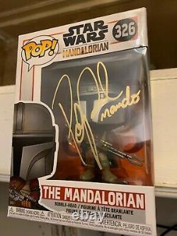 Pedro Pascal Signé Funko Pop Vinyl The Mandalorian Star Wars Boba Fett Child