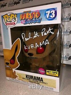 Peter St Paul Signé Autographié Naruto Kurama 6 Flocked Ht Funko Pop Vinyl