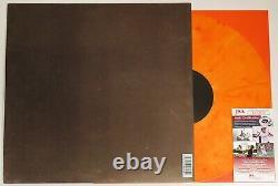 Post Malone Signé Stoney 2x Lp Orange Color Vinyl Record Autographié +jsa Coa