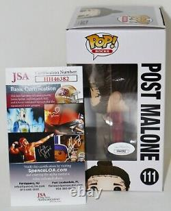 Poste Malone Signé Autographié 111 Funko Pop Beerbongs Bentleys Jsa Psa Bsa