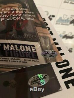 Poster Malone Posty Personnalisés 1/1 Signé Autographié Funko Pop Beckett Bas Coa