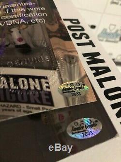 Poster Malone Posty Personnalisés 1/1 Signé Autographié Funko Pop Vinyl Figure-photo Coa