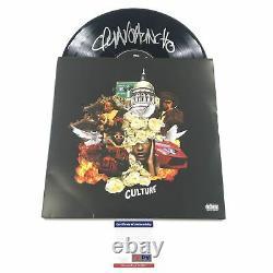 Quavo Huncho Migos A Signé Culture Lp Vinyl Psa/dna Album Autographié