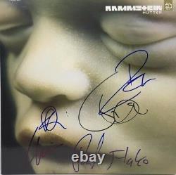 Rammstein Signé Autographed Mutter Vinyl Album Till Lindemann Richard ++ Coa