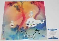 Rapper Kanye West Signé Enfants Voir Ghosts Vinyl Album Record Lp Beckett Coa Bas