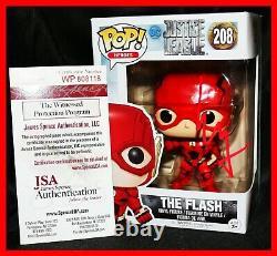 Rare Ezra Miller Signé La Flash Justice League Funko Pop Jsa Témoin Psa