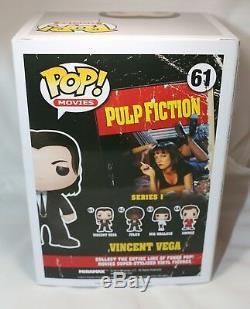 Rare John Travolta Signé Pulp Fiction Vincent Vega Autograph Funko Pop Psa Jsa