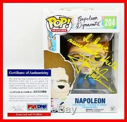 Rare Jon Heder Signé Autographié Napoleon Dynamite Avec Citation Funko Pop Psa Jsa