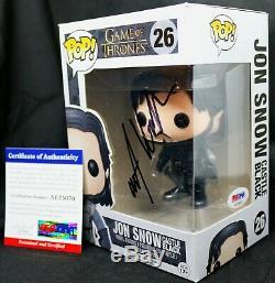 Rare! Kit Harington Signé Game Of Thrones Autograph Jon Snow Funko Pop Psa Jsa