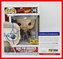 Rare Michael Douglas Signé Hank Pym Unmasked Autographié Ant Man Funko Pop Psa