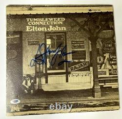 Rare Psa Elton John Signé Autograph Album Vinyl Record Tumbleweed Connection